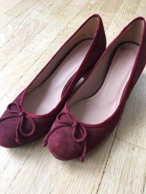 Lottusse Mary Jane Ballerinas bordeaux-dark red suede