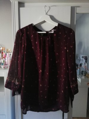 weinrote Bluse mit Muster
