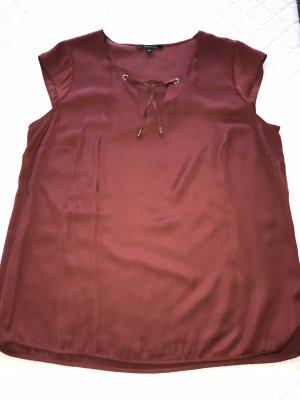 Weinrote Bluse von Comma in der Größe 42