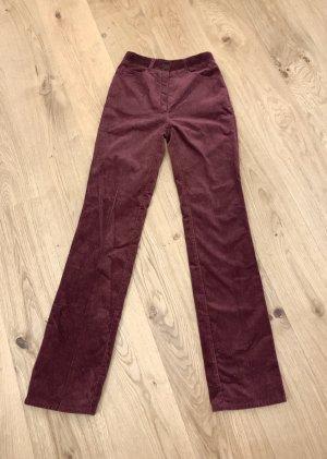 Vintage Hoge taille jeans karmijn Katoen