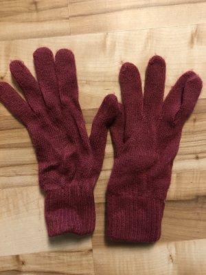 Weinrote  Handschuhe