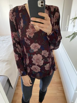 Zara Long Blouse bordeaux-blackberry-red