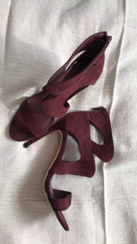 weinrote sommerliche heels