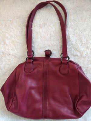 Weinrote Vintage Marc O´Polo Tasche aus Leder