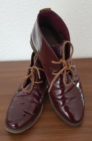 Marco Tozzi Chaussures à lacets rouge carmin tissu mixte