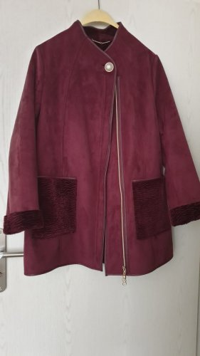 Alfredo Pauly Between-Seasons-Coat carmine-bordeaux
