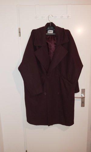 Weekday Oversized Coat bordeaux-purple