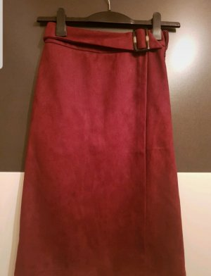 About You Faux Leather Skirt bordeaux