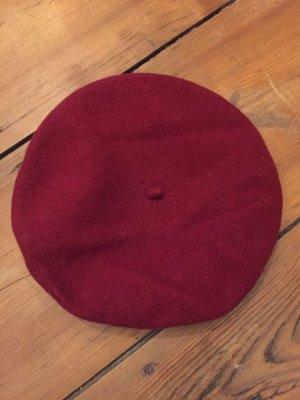 WOOLMARK Wollen hoed karmijn