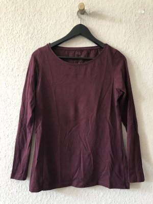 Weinrotes Basic Longsleeve Hemd / Langarmshirt von Anne L.