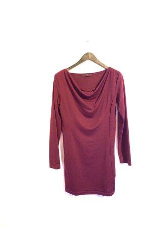 Weinrotes Kleid / Rotes Strickkleid