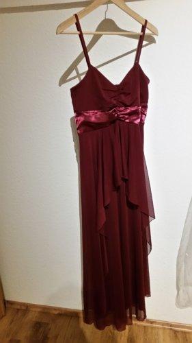 Weinrotes Kleid von Bodyflirt in Gr. 38
