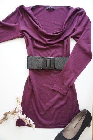 Weinrotes Kleid / Weinrotes Strickkleid