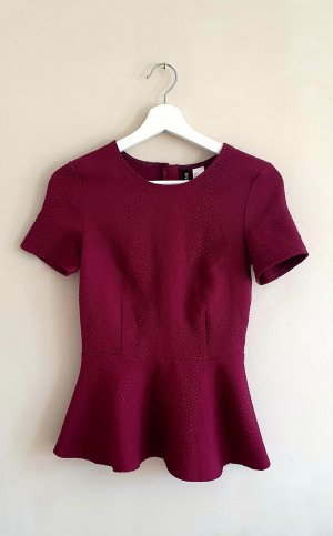 H&M Divided Top peplo bordeaux
