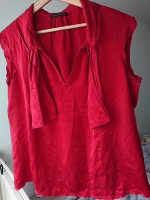 Carolina Herrera Mouwloze blouse karmijn