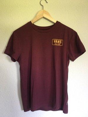 Vans Shirt basique bordeau-orange doré