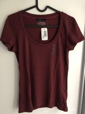Weinrotes T Shirt Hilfiger