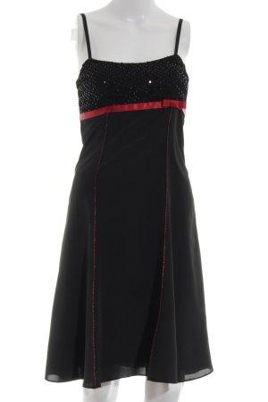 Weise Abendkleid schwarz-rot Elegant