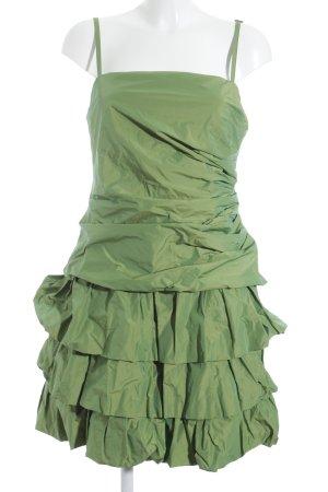 Weise Abendkleid grün Stofflagen-Detail