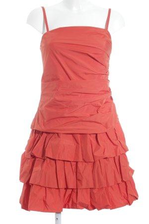 Weise Abendkleid orange Party-Look