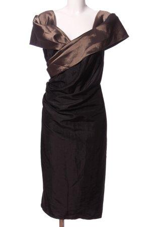 Weise Cocktailkleid schwarz-braun Elegant