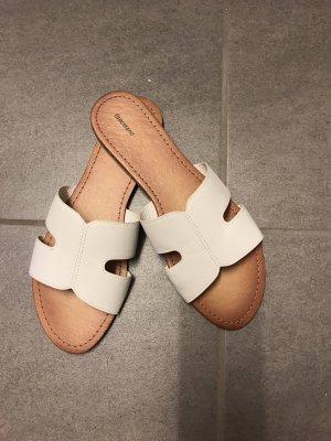 Graceland Zuecos blanco-beige Imitación de cuero