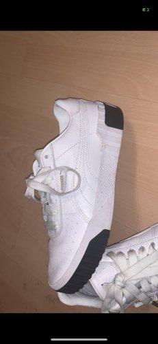 Puma Zapatillas con tacón blanco-negro