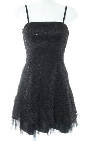 Weise Trägerkleid schwarz Elegant