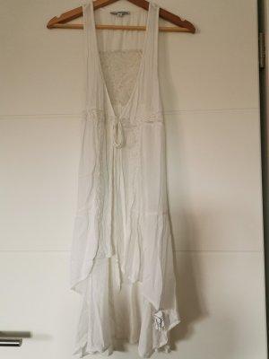 Tally Weijl Gilet long tricoté blanc
