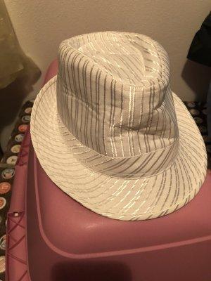 New Yorker Sombrero de ala ancha blanco-color plata