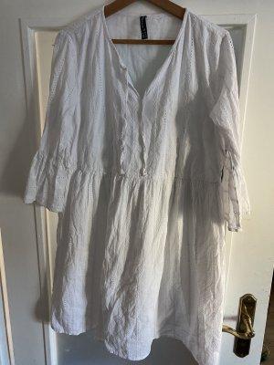Weises Baumwoll Kleidchen L