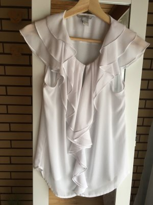 H&M Cowl-Neck Shirt white