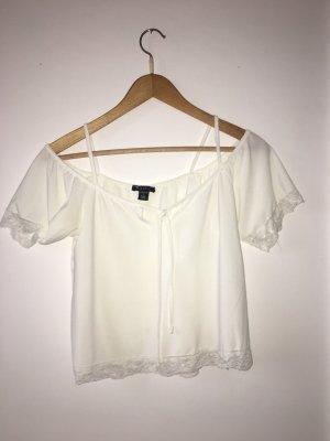 Amisu T-shirt blanc cassé