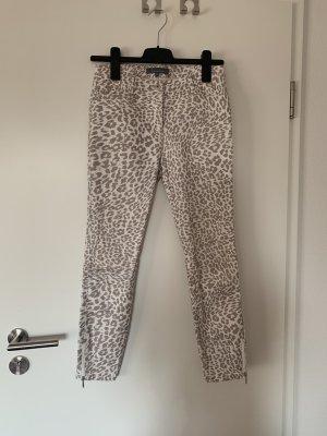 Weiß beige Hose mit Leopardenmuster / Valiente