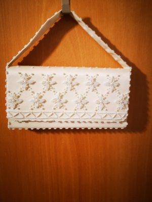 Bolso de mano blanco-beige claro