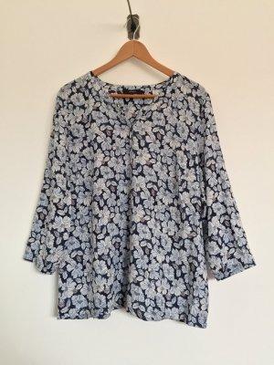 Weiß blau Blumen Bluse, Shirt von Bonita, Gr. 42 (NEU)
