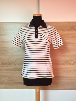 Weiß blau gelb gestreiftes Polo Shirt von Via Appia, Gr. 36 (NEU)