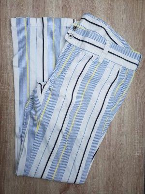 weiß blau gelb schwarz gestreifte Jeans Größe 28