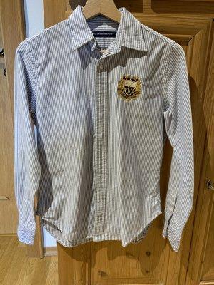 Weiß blau gestreifte Bluse Ralph Lauren