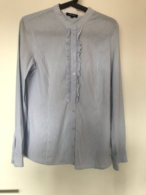 Weiß/blau-gestreifte Bluse von More & More
