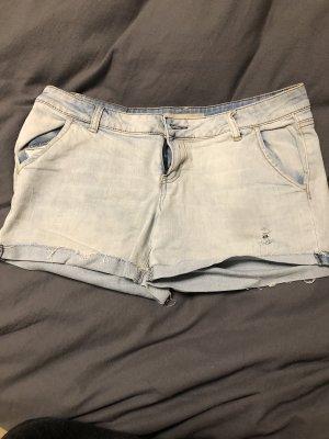 Weiß blaue Amisu Jeans kurz, 42!