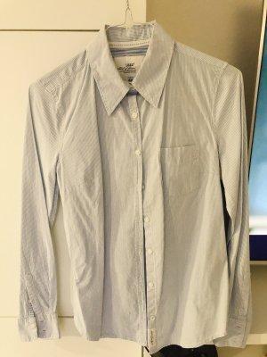 Weiß blaue gestreifte Bluse