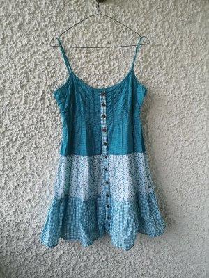 weiß-blaues gemustertes Sommerkleid von QS by s.Olivier