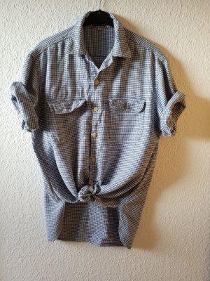 weiß blaues Hemd von Guess mit Hahnentrittmuster