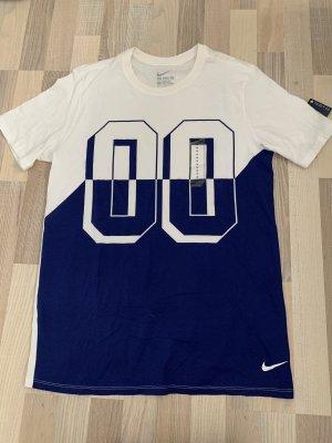 Weiß-blaues Nike T-shirt