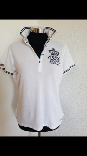 Weiß/Blaues Poloshirt von Gaastra Größe S