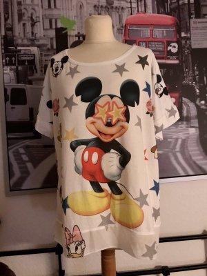 * Weiß/Bunt Shirt Mickey Maus Comic Gr.36/38/40 Neu *