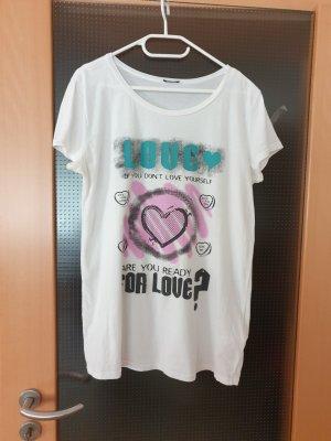 weiß-buntes T-Shirt von mötivi