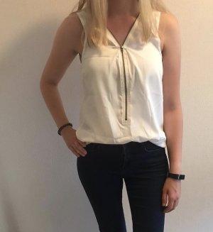 Weiß/Creme Bluse von Jacqueline de Yong in S