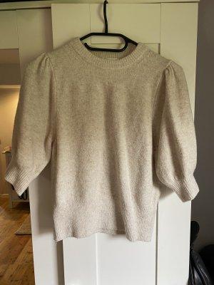 Weiß-Creme- Farbener Pullover